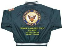 USS WASP  CV/CVA/CVS-18 NAVY CARRIER DELUXE EMBROIDERED 2-SIDED SATIN JACKET