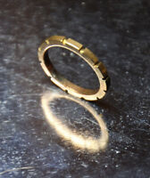 Brass Ring Solid Hand Carved Gold band Size 6 Unisex Golden Promise Rings