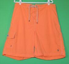 Polo Ralph Lauren Mens Size L Large Orange Swimwear / Swim Shorts