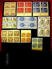Czech 294,338-9cpl/P18 blocks; f-vf Mnh, cv 18.20+