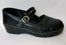 DANSKO Black Mary Jane Leather Wedge Sandal Clog Shoes EU 38 Wmns 7.5- 8 M Nurse