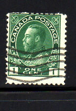 CANADA #104  1 CENT   KING GEORGE V  ADMIRAL ISSUE   USED   a