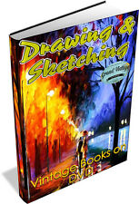Drawing & Sketching Collection 60 Vintage Books on DVD - painting, watercolour