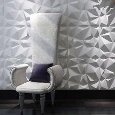Decorative 3D Wall Panels Diamond Design Pack of 12 Tiles 32 Sq Ft Plant Fiber