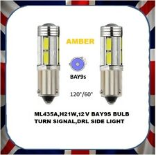 2x DEL Ambre Feu De Frein Indicateur brouillard phare de voiture Ampoule BAY9S 12 V 21 W H21W