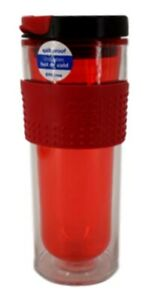 Cool Gear  Spill Proof Hot or Cold Tumbler 14 oz Red