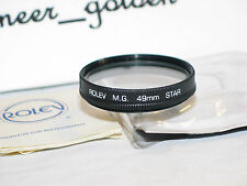 Rolev M. G 49mm STAR filter w/case for slr camera and video