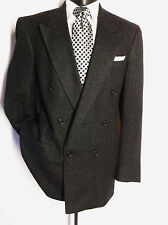Christian Dior Double Breasted Gray Tweed  Mens Sport Coat Jacket  Size 44L
