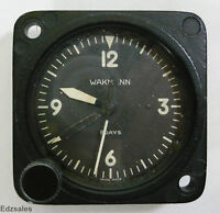 Wakmann 8-Day Aircraft Mechanical Clock Swiss Made Aluminum Oxyde