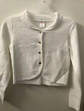 New Gymboree White Jacket with Gold Buttons Size L (10-12) B4