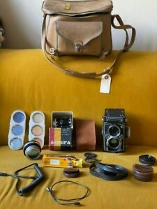 Rollei Rolleiflex 3.5f E - DBGM TLR Film Camera w/great set of accessories