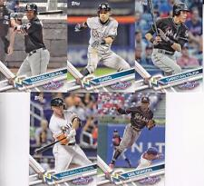 2017 MIAMI MARLINS 40 Card Lot w/ TOPPS OPENING DAY Team Set 22 CURRENT Players