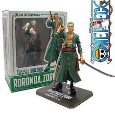 "16cm/6.3"" ONE PIECE POP RORONOA ZORO PVC Action Figure Figma Toy Doll In BOX Kid"