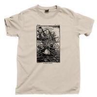 Kraken Monster T Shirt Steampunk Jules Verne Leagues Under Sea Sail Oceans Tee