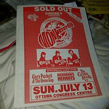 MONKEES hand A4 size flyer for concert  July 13th 1987 Canada, Toronto