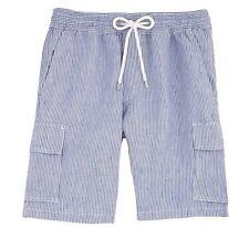 Vilebrequin S Men's Linen Micro Stripe Shorts Blue
