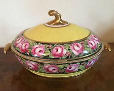 Big 19th c. Georgian Coalport Porcelain Vegetable Tureen Entree Dish 1805 Yellow