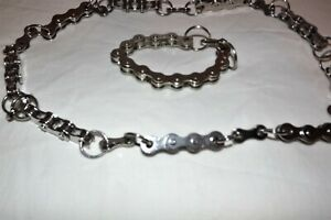 Real Bike Chain Necklace and Wristlet