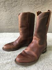 Frye Weston Roper Mens Size 7 Brown Leather Mid Calf Pull On Boots Shoes