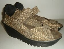 BM BERNIE MEV. WOMENS Shoes 38 us sz 7 Bronze Metallic Sandal Heel woven