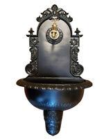 Antik Alu Bassena Garten Wand Brunnen Wandbrunnen mit Kran u. Ablaufset MG1-B