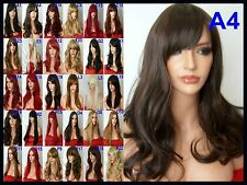 Brown Wig Women Fashion Wig Long Curly Cheap Stage Natural Ladies Full Wig A-4