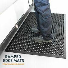 More details for black heavy duty non slip rubber safety workshop restaurant entrance rubber mat