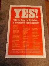 FILM POSTER, 'I NEVER SANG FOR MY FATHER', US ONE