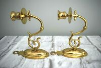 Baldwin 7441 New Rose Polished Brass Candle Wall Sconces Georgetown Series Vinta