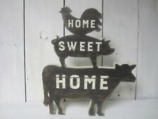 Chunky Stacked Sign Home Sweet Home Cow, Pig & Rooster