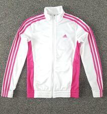 Adidas Niñas Chaqueta Chándal Top Rosa edad 13-14 años