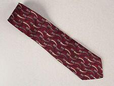 7th Ave, Burgundy 100% Silk  Necktie Neck Tie 60L, 4W,
