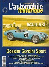 AUTOMOBILE HISTORIQUE 4 GORDINI SPORT 1947 57 GP ACF 1954 CARLOS PACE LOMBARD