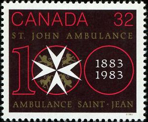 Canada Scott 980 St John Ambulance Centenary  VF MLH OG (19834)