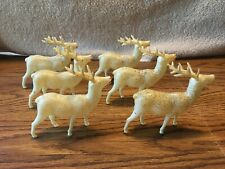 Vintage 1940's Celluloid Reindeer Made in Occupied Japan (Herd of 6)
