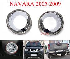 CHROME FOG LAMP LIGHT COVER TRIM FOR NISSAN NAVARA FRONTIER D40 2005-2010 PICKUP