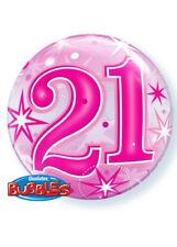 Qualatex Bubbles 21st Birthday Pink Sparkle Bubble Balloon