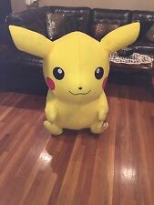 Gigantic Pikachu plush toy Pokeman!  Life size 48 inches tall, 59 inches to ears