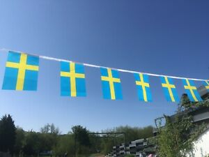Sweden Swedish Fabric Bunting various lengths or sample wholesale free post