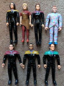 Lot x8 1996 Star Trek Voyager Figure Playmates Janeway Chakotay B'Elanna Kim