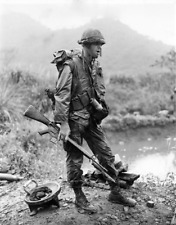 Vietnam War U.S. Marine Alone In Solitude Mekong Delta High Gloss 8.5x11 Photo