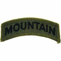 """Eagle Emblems PM3776 Patch-Army, Tab, Mountain (Subdued) (2-1/2"""")"""