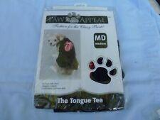 "DOG/Pet TONGUE TEE SHIRT by PETS UNITED size Medium  ""Classy Pooch Fashion"" NIP"