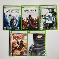 Assassin' Creed, 2 , Ghost Recon,Rainbow Six Vegas 2 , Forza Motorsport 3 XB 360