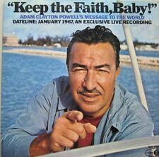 ADAM CLAYTON POWELL - KEEP THE FAITH, BABY ! -  LP