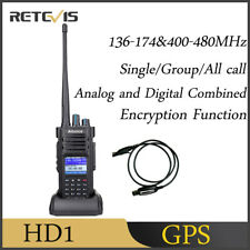 GPS AilunceHD1 IP67 Dual Band Funkgeräte DMR Walkie Talkie 3000CHVOX+Cable