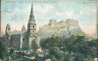 Edinburgh castle and St cuthberts parish church reliable series 1905