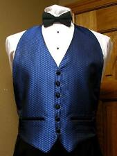 Royal Blue Vest and Bowtie Fit All (38-48) Saville Steampunk Formal Cosplay