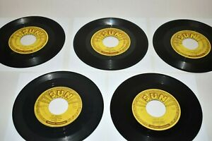 "5 Lot Johnny Cash Sun Records 7"" 45rpm 232, 241, 266, 279 & 283"