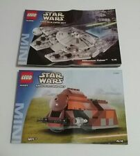 Lego 4488 4491 INSTRUCTION BOOKS Millennium Falcon / MTT * BOOK ONLY NO LEGO